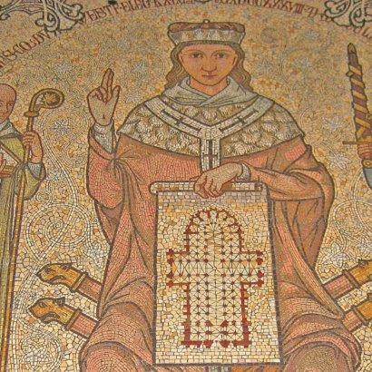 Kölner Dom: Mosaik Konrad von Hochstaden